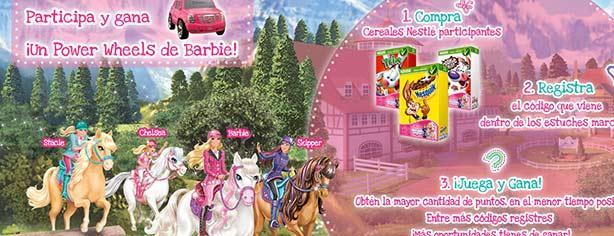 Promoción Cereales Nestlé y Barbie: registra tu código, juega y gana premios