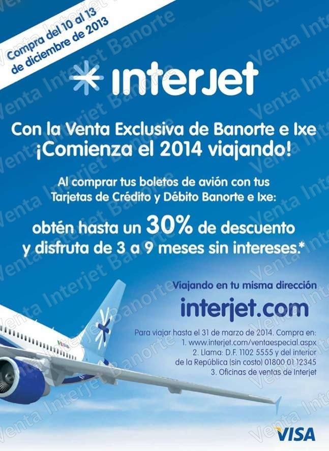 Ofertas de la venta exclusiva interjet banorte ixe 30 de for Oficinas de interjet