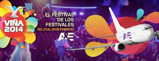 Concurso Canal A&E, gana un viaje al Festival Viña del Mar 2014 en Chile