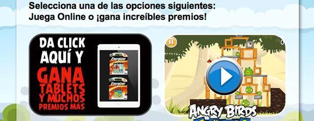 Promoción Energizer Angry Birds: gana iPad Mini cada semana