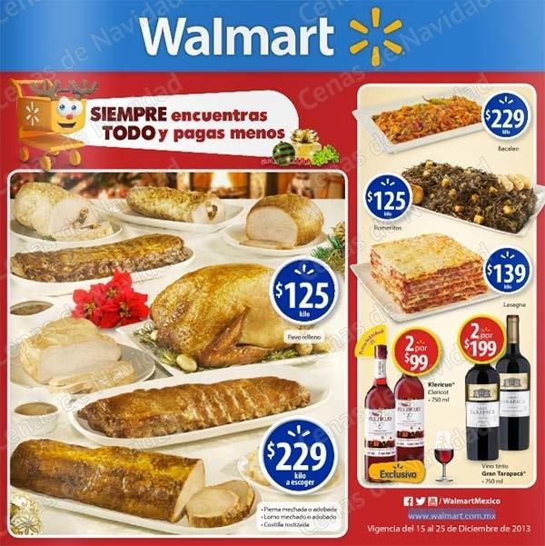 Catálogo de ofertas Walmart Cenas Navideñas del 15 al 25