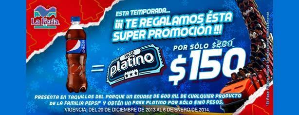 Promocion Pepsi Y La Feria De Chapultepec Pase Platino A Solo 150