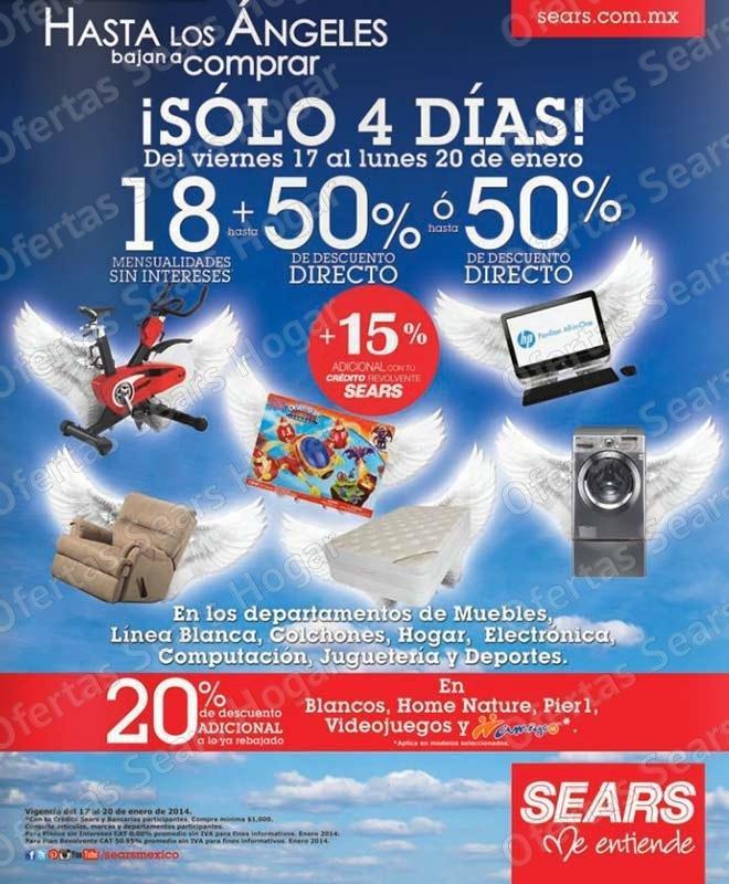Ofertas Sears: 50% de descuento y 18 MSI en hogar, electrónica ...