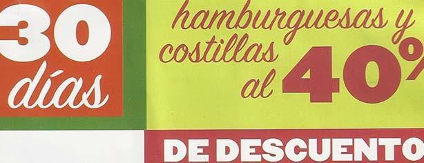 Promoción Applebees: Hamburguesas y costillas al 40% de descuento