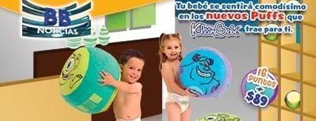 Promoción puntos KleenBebé y Huggies 2014: Canjea tus puntos por Puffs de Monsters Inc.