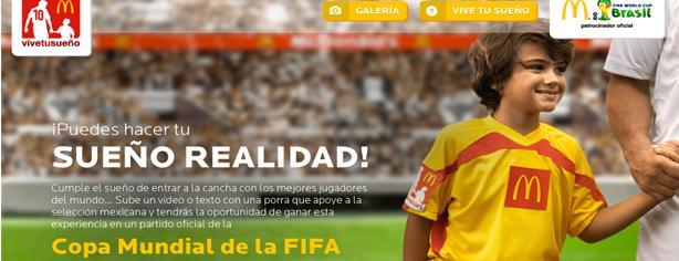 Promoción McDonalds Vive tu Sueño: Pisa la cancha de un estadio del Mundial Brasil 2014