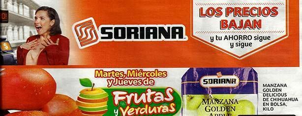 Ofertas Martes, Miércoles y Jueves de Frutas y Verduras Soriana 4 al 6 de febrero