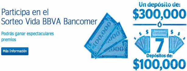 Sorteo Vida BBVA Bancomer: gana hasta $300,000 pesos