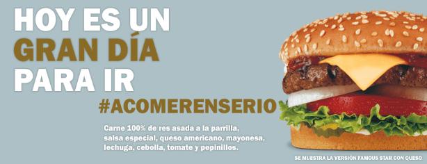 Cupón Carl's Jr. Wonder: 2 hamburguesas por $75