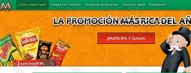 Promoción Sabritas Monopoly La Promo Más Rica Registra Tu Código