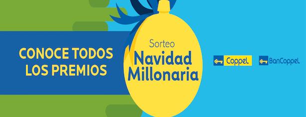 Coppel Navidad Millonaria 2015: gana 1 millón de pesos o uno de los