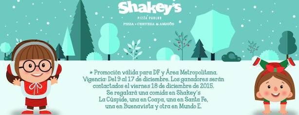 Concurso Shakeys México: gana 1 de las 5 comidas gratis para 2 personas