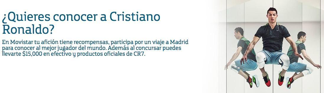 Promoción Movistar Cristiano Ronaldo: Gana productos oficiales y hasta convivencia con CR7 en Madrid