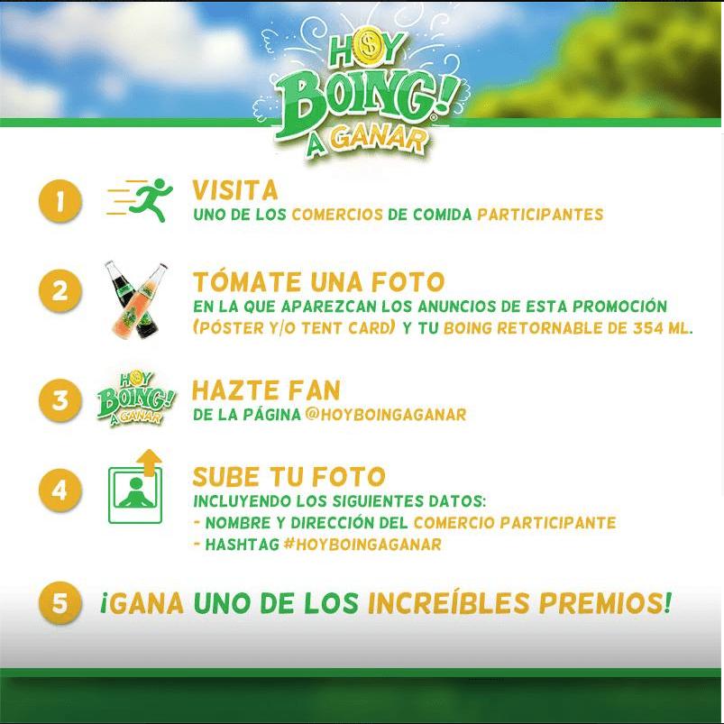 Promoción Boing 2016 Hoy Boing a Ganar: Gana $354 mil pesos y descuentos en las corcholatas
