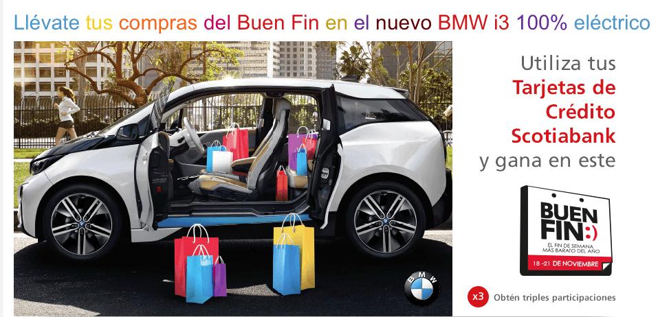 Sorteo Buen Fin 2016 Scotiabank: Gana un auto eléctrico BMW i3