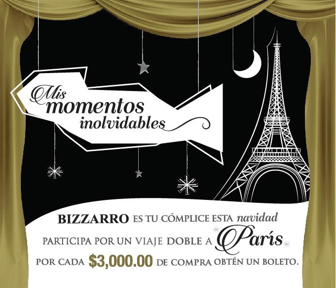 Sorteo Bizzarro Momentos Inolvidables: Gana viaje a París