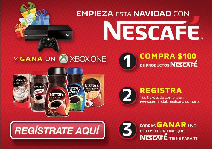 Promoción Comercial Mexicana Nescafé Navidad 2016: Gana una de las consolas Xbox One