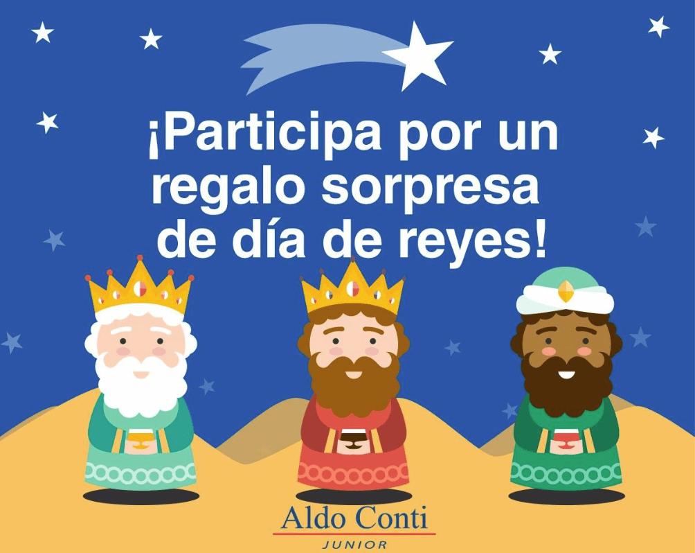 Participa con Aldo Conti Jr y gana un regalo sorpresa de Reyes Magos