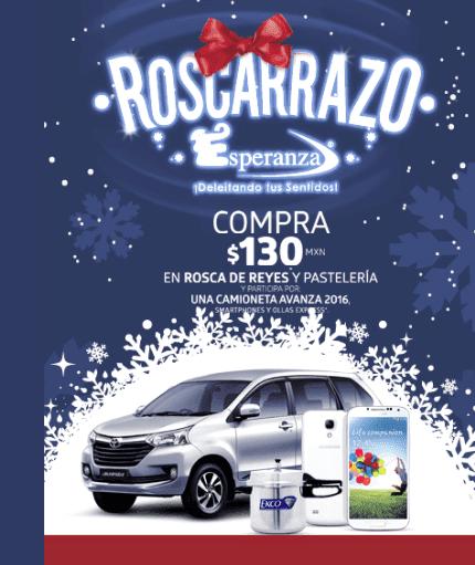 Concurso Pastelerías Esperanza Roscarrazo 2017: Gana auto, smartphones y ollas expres en esperanza.mx/concurso