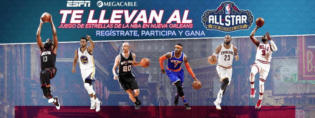 Promoción ESPN y Megacable: Gana viaje al NBA All-Star 2017 en Nueva Orleans