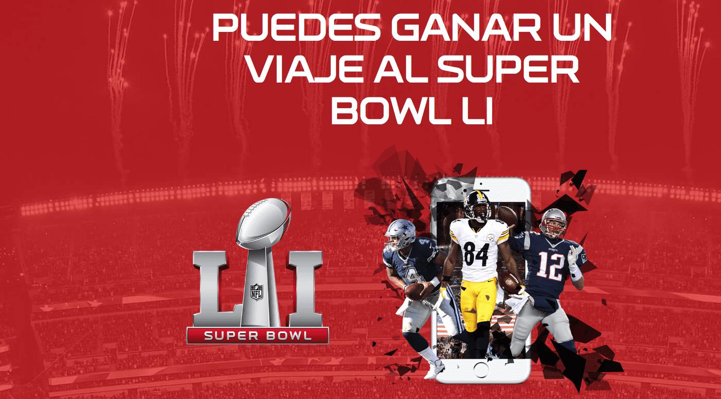 Promoción ESPN Camino al Super Bowl 51: Gana viajes al Super Bowl LI en espn.com/CaminoAlSuperBowlLI