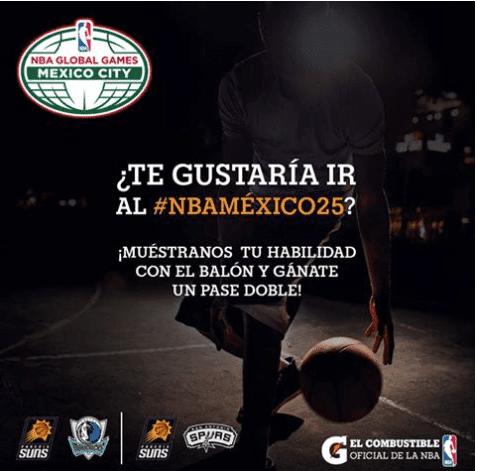 Gana boletos dobles para los partidos de la NBA en México cortesía de Gatorade