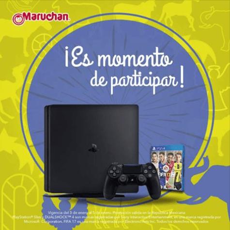 Participa con Maruchan y gana un Play Station 4 de 500 gb con un Fifa 17