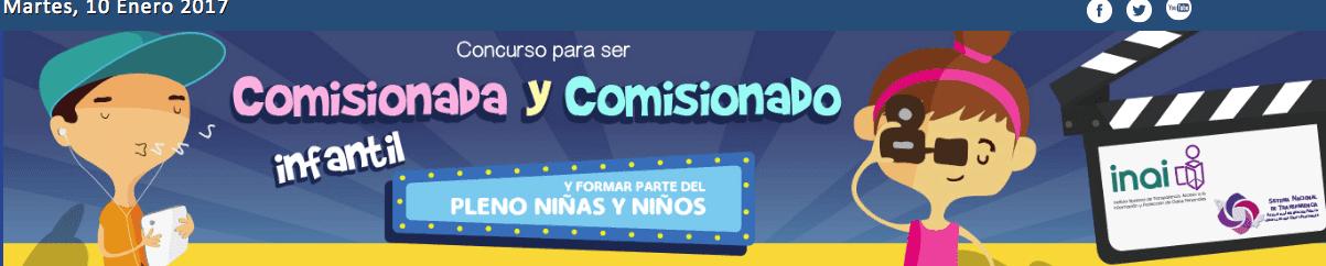 Concurso INAI Comisionado Infantil: Gana tablet y viaje a la CDMX en inai.org.mx