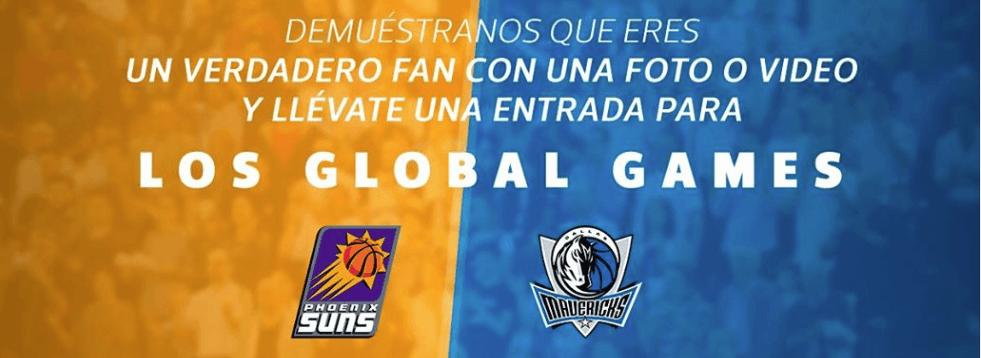 Boletos gratis para el partido NBA Suns vs. Mavericks cortesía de Tienda NBA