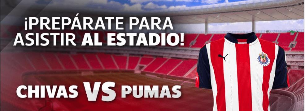 Gana boletos dobles para el partido de Chivas vs Pumas de la jornada 1 con Netshoes