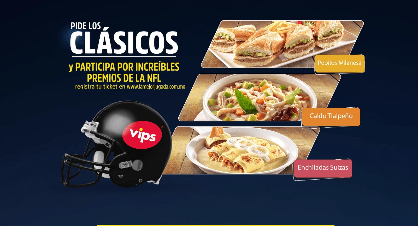 Promoción Vips NFL la Mejor Jugada: Gana consolas, videojuegos y más en lamejorjugada.com.mx
