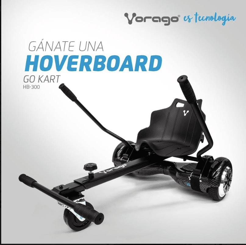 Concurso #YoQuieroLaHoverboardVorago: Gana una hoverboard Go Kart