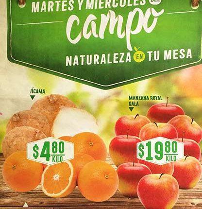 Comercial Mexicana: ofertas en frutas y verduras Martes y Miércoles del Campo 25 y 26 de abril
