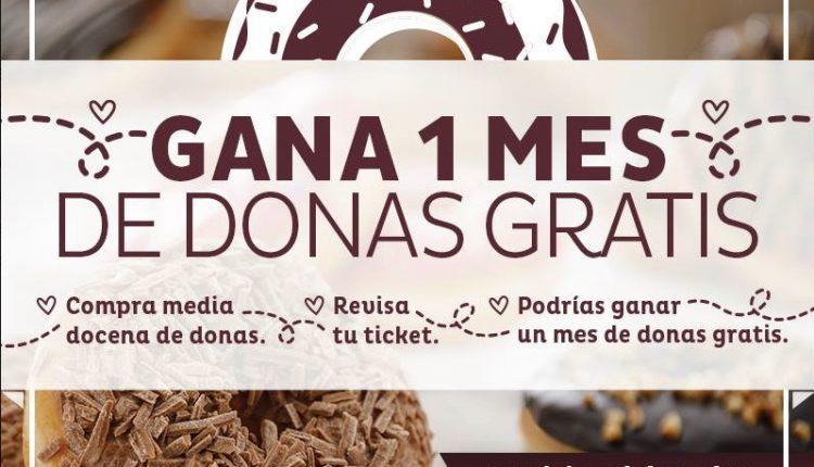Gana un mes de donas gratis en Pastelerías El Globo