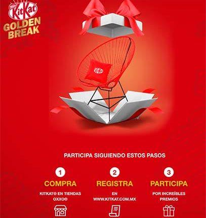 Promoción Oxxo Kit Kat Golden Break: registra tu ticket en kitkat.com.mx y gana