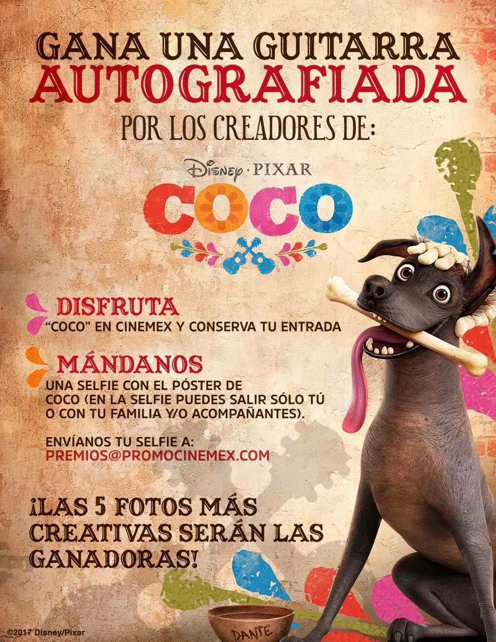 Concurso Cinemex Coco: Gana una guitarra autografiada