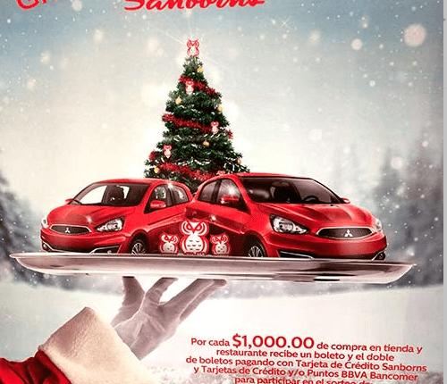 Sorteo De Navidad Sanborns 2017 Gana Uno De Los 3 Autos Mitsubishi