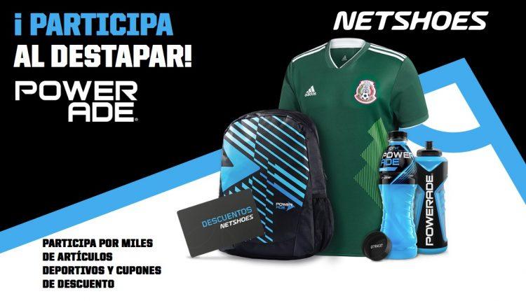 Promoción Netshoes Powerade: registra tu código en netshoes.com.mx/powerade y gana jerseys, mochilas, descuentos y más