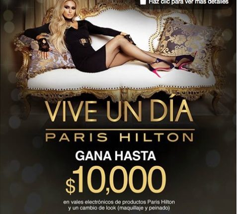 Concurso Price Shoes Vive un Día Paris Hilton: Gana $10,000 en productos Paris Hilton y cambio de look