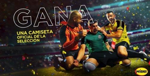 Concurso Midas Mundial: Gana una playera oficial de la Selección Mexicana