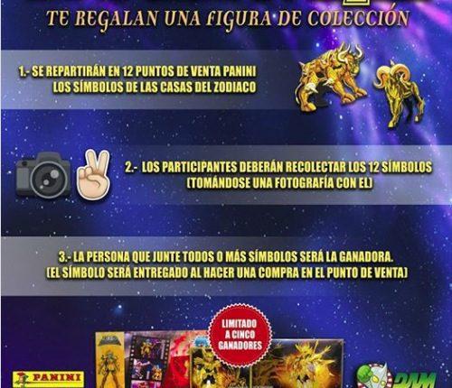 Concurso Panini 12 Casas de Caballeros del Zodiaco: Gana una de las 5 figuras de colección