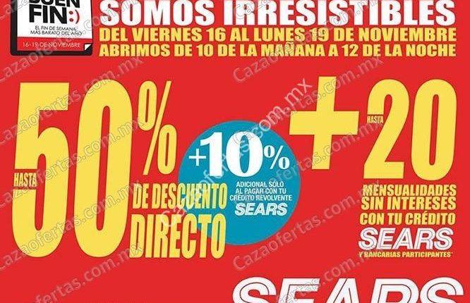 El Buen Fin 2018 en Sears: Promociones, ofertas y meses sin intereses