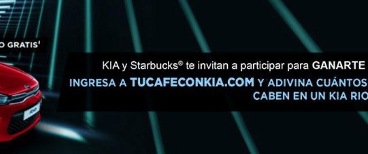 Promoción Kia y Starbucks Tu Café con Kia: Gana 1 de 2 autos Kia Río Sedán 2019 en tucafeconkia.com