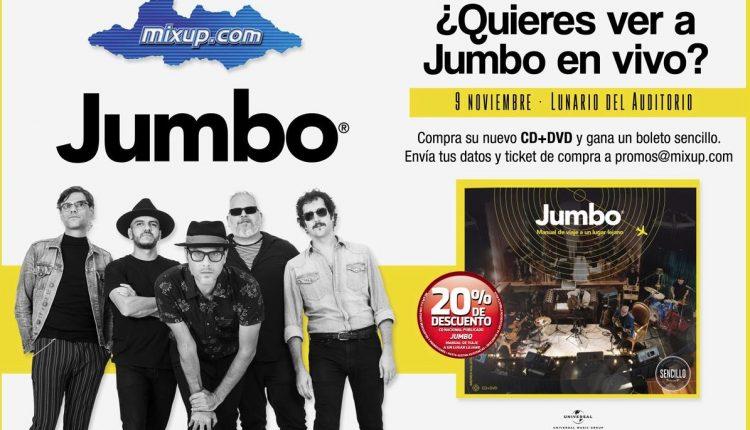 Boletos Gratis para el concierto de Jumbo cortesía de Mixup