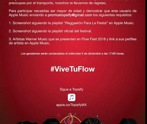 Gana boletos para el Coca-Cola Flow Fest con Apple Music y Topsify