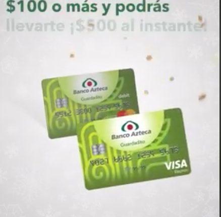 Promoción Guardadito Banco Azteca Aguinaldo 2018: Gana $500 depositando $100 o más