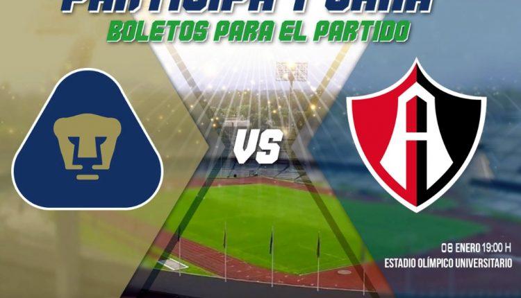 Boletos Gratis para el partido de Copa MX UNAM vs. Atlas cortesía de Autovías