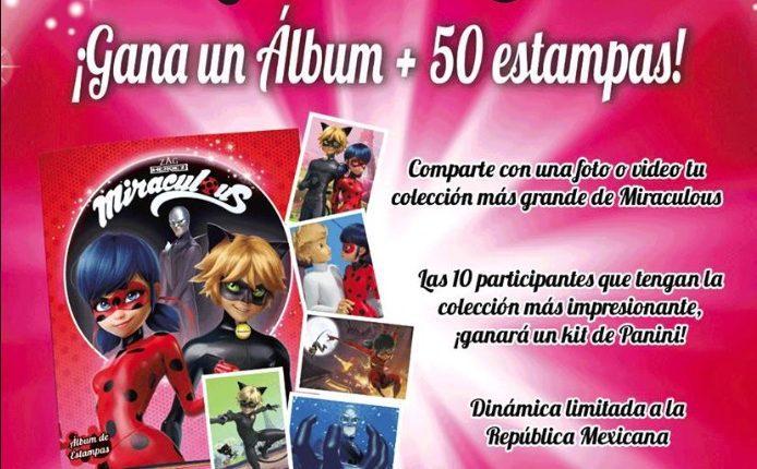 Concurso Miraculous Ladybug: Gana 1 de 10 álbums Panini de la serie + 50 estampas