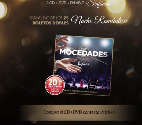 Concurso Mixup: Gana 1 de 25 pases dobles para una velada romántica junto a Mocedades