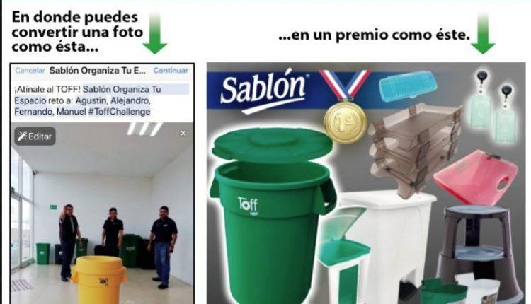 Toff Challenge de Sablón: Gana 1 de 5 paquetes de premios